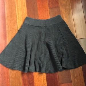 Dark Gray Gap Woven Skirt